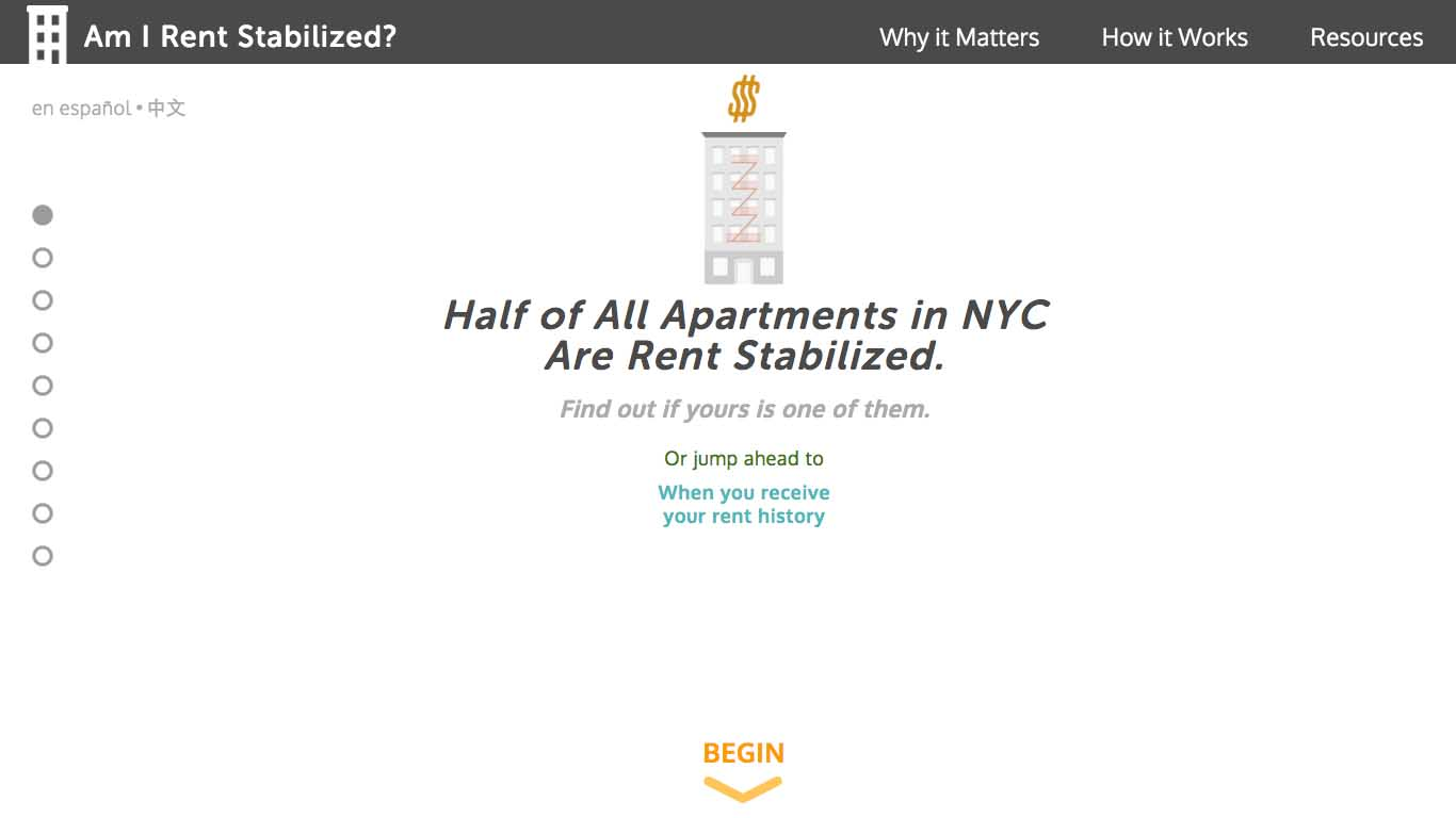 Am I Rent Stabilized home page