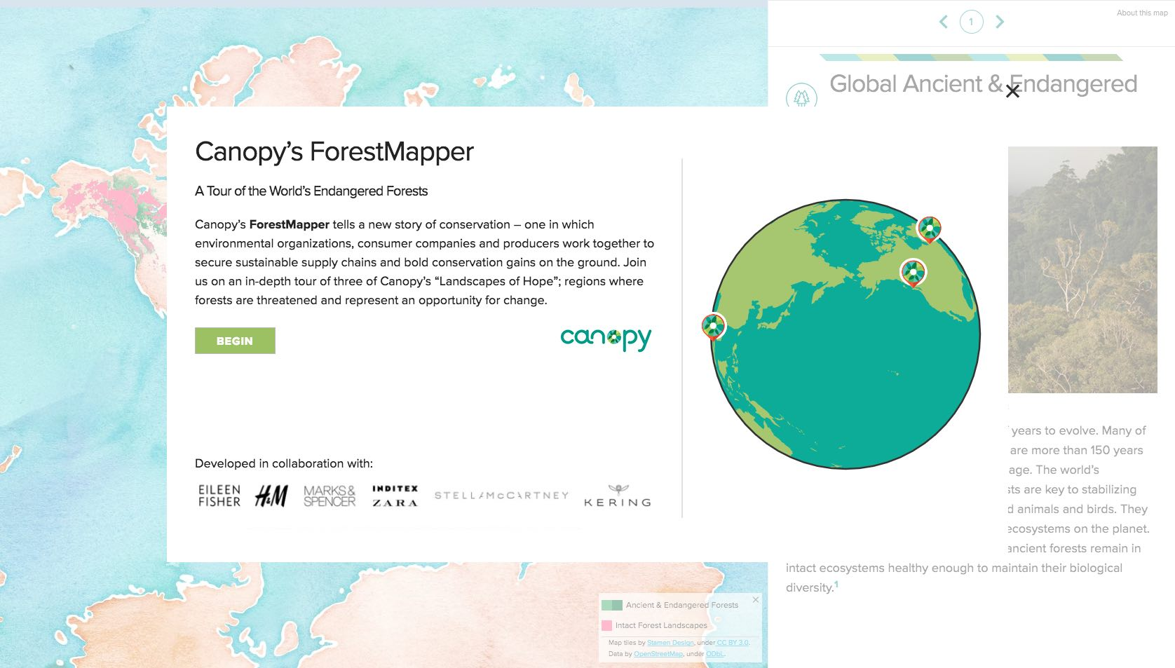 canopy story map splashscreen