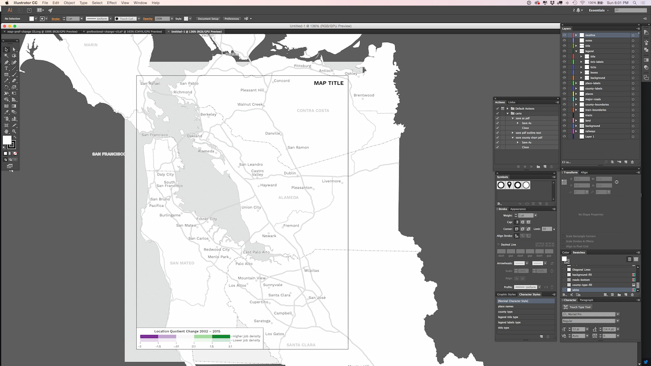 screenshot of map template